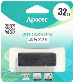 Флешка (Flash-drive) USB 2.0, 32GB, Apacer AH325, 10/3Мб/с