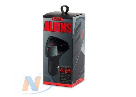 АЗУ Remax Alien RC-C304 (3xUSB, 4.2A) черный