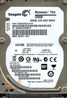 "(HDD) Жесткий диск 2,5"" 320GB Seagate Laptop Thin 16Mb (ST320LT012) 5400PRM"